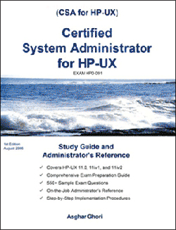 Certified Systems Adminstrator for HP-UX - FIRST EDITION
